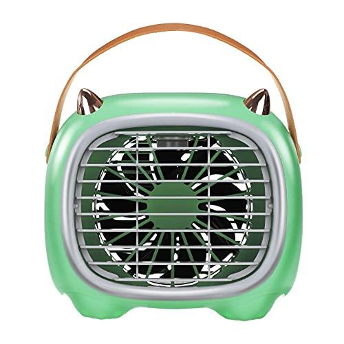 Lomelomme Climatizador portátil, enfriador por evaporación, humidificador, mini ventilador de escritorio verde Talla única