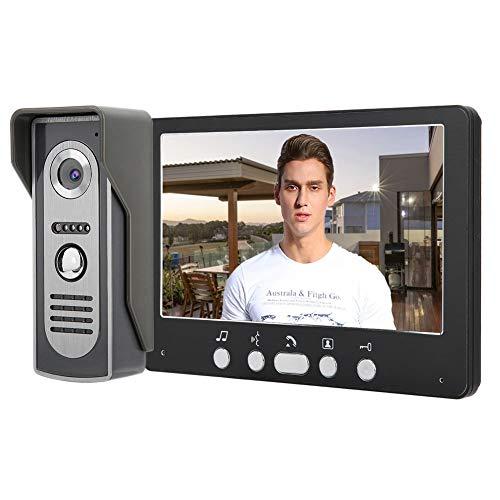 Timbre de Video inalámbrico, Sistema de intercomunicación de 7 Pulgadas con monitores de cámara TFT, Sistema de visión Nocturna de intercomunicador de Timbre de Video(UK)