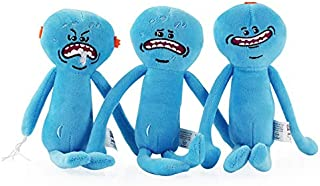 EXTOY 3Pcs/Lot 25Cm Happy & Sad & Foamy Mr. Meeseeks Plush Toys Doll Soft Stuffed Toys for Kids Children Xmas Gifts Thing You Must Have Inspirational Gifts Toddler Favourite Toddler Superhero