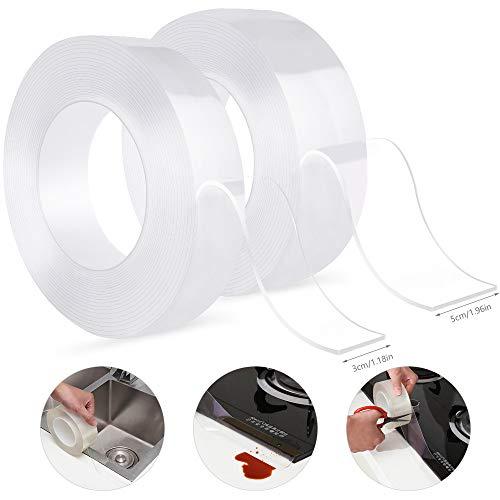 Selbstklebende Dichtband, Wasserdichtes klebeband, Schimmelfest Dichtband, Auf die Küche/Toilette/Badezimmer in der Ecke, Verhindert, Dass Feuchtigkeit und Verhindert Schimmel(3cmx5m + 5cmx5m)