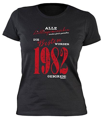 Frauen T-Shirt zum 38 Geburtstag für die Frau Damen T-Shirt Lieblingsmenschen 1982 Geschenk zum 38. Geburtstag 38 Jahre Frauen Geburtstagsgeschenk