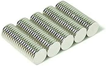 Vridhi Enterprises 10 x 1.5mm Magnets Nickel Coated Round Premium Brushed Refrigerator Magnet For Science And School Projects (Pack of 50)
