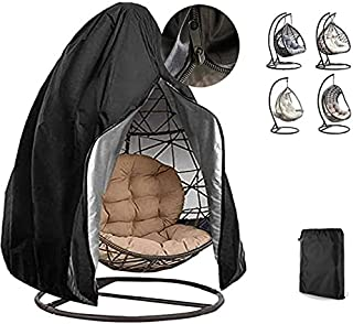 Egg Chair Cover Patio Hanging Swing Egg Chair Cover 420D Waterproof Dustproof Wicker Egg Single Swing Chair Covers Outdoor...