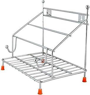 DECORVAIZ ckarss Stainless Steel chakla Belan Tawa Chimta Stand 4in 1 chakla belan tawa Holder (Silver, Standard)