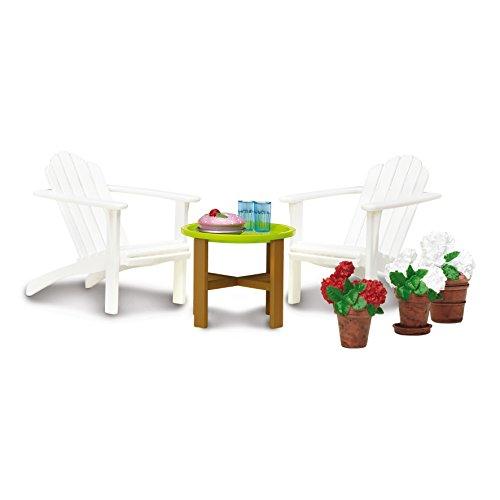 Lundby 60.3049.00 - Gartenmöbel Set, Minipuppen mit Zubehör