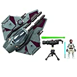 STAR WARS Mission Fleet Stellar Class OBI-Wan Kenobi Jedi Starfighter Starfighter Run 2.5-Inch-Scale Figure and Vehicle, Toys for Kids Ages 4 and Up