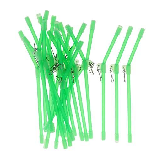 lahomia 20Pcs Anti Feeder BOOMS Abrazadera de Metal Fuerte 15cm 20cm 22cm - 22cm
