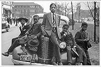 ポスター ラッセル リー Sunday Best (Chicago Boys 1941) 額装品 アルミ製ベーシックフレーム