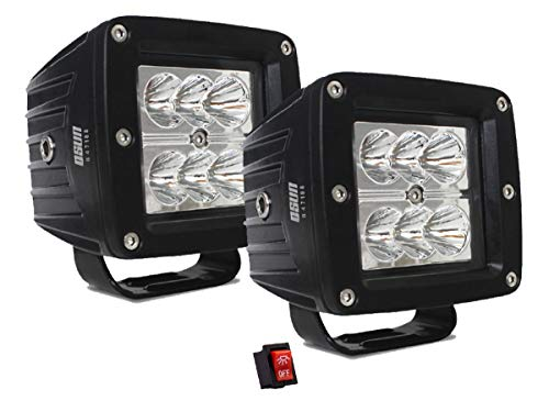 Par De Faros LED forma Cuadrado 18w Luz Concentrada Blanca con 6 led