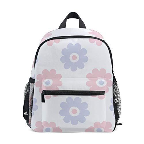 MontoJ Sac d'école à motif fleurs rose et violet pour garçons