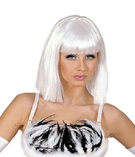 Mondial-Fete - Perruque Blanche Sexy Showgirl