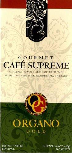 Organo Gold Cafe Supreme - Café supremo 100% certificado con extracto de Ganoderma