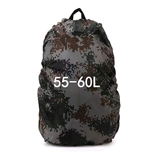 F-Jiujin,backpack 40L 60L 70L 80L Military Outdoor Tactical Bag Backpack Cover Waterproof Ultralight Camping Hiking Backpacks Sport Bag Rain Cover (Color : Camouflage 55 60L)