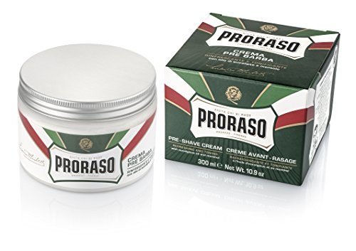 Proraso Green Pre-Shave Cream Refreshing and Toning, 1er Pack (1 x 300 ml)