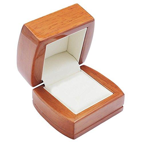 EYS JEWELRY Schmuck-Etui für Ring 68 x 60 x 50 mm Holz braun Ring-Box Schachtel Schatulle Geschenk-Verpackung