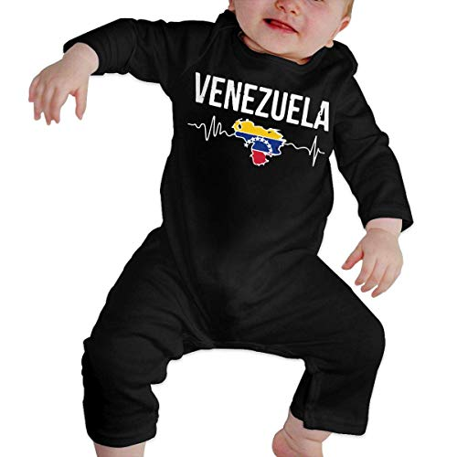 SDLZIJFGHBC Winter Baby Onesies I'm American My Heart Beats for Venezuela Toddler Baby Long Sleeve Romper Jumpsuit Baby Rompers 12M