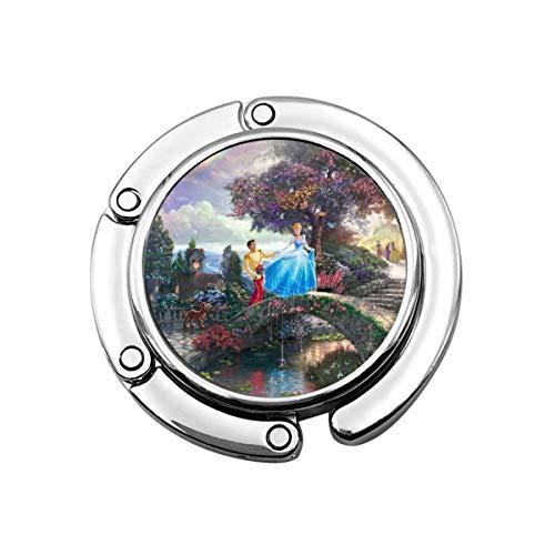 Cinderella Dream Castle Tragbare Handtaschen-Aufhänger Tisch Bar Geldbörse klappbar Top Haken Geschenk