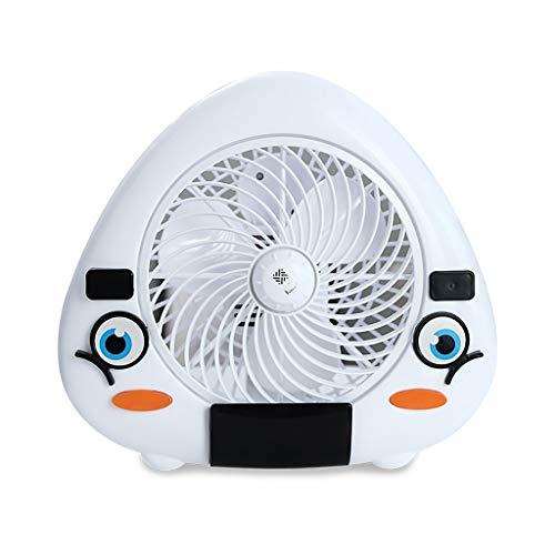 XRZMD Ventilador eléctrico de Dibujos Animados en casa Dormitorio del Estudiante pequeño...