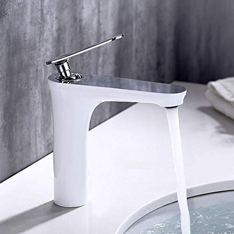 Wasserhahn Messing Einlochmontage Waschbecken Standhahn.wei Waschtischarmaturen Waschraumarmaturen Badewannenarmaturen
