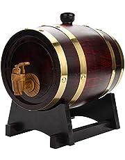 Barril de roble de 1,5 l / 3 l / 5 l / 10 l con revestimiento de aluminio integrado para guardar su propio whisky, cerveza, vino, bourbon, brandy, salsa picante y más 1,5 L
