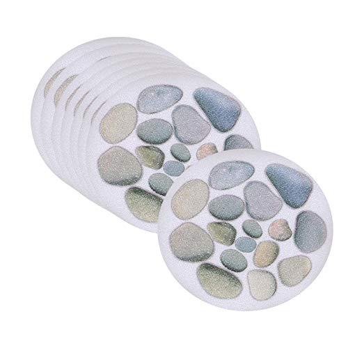 Generic 8 Pegatinas Antideslizantes para bañera, Hilos Adhesivos Antideslizantes para Ducha y bañera con rascador Premium - Piedra