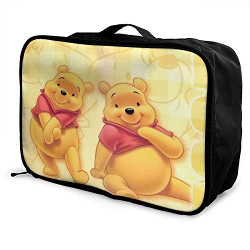 Winnie The Pooh - Borsone da viaggio leggero e di grande capacità, portatile, impermeabile, pieghevole, per trasportare bagagli, animali e fumetti