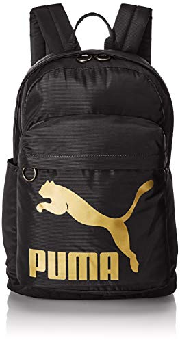 PUMA Rucksack Originals Backpack, Puma Black-Gold, OSFA, 74799