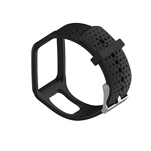 Ersatz-Armband für Tomtom Multi Sport/Cardio GPS Watch Ersatzarmband Uhrenarmband Replacement Wechselarmband Watch Band Ersatz ansehen Uhr Band (Schwarz)