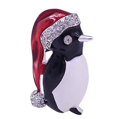 SSMDYLYM Broche Pingüino Lindo con los Diamantes, Las señoras de la aleación de la Broche de Vestido Elegante de la decoración del Bolso de Accesorios Pin