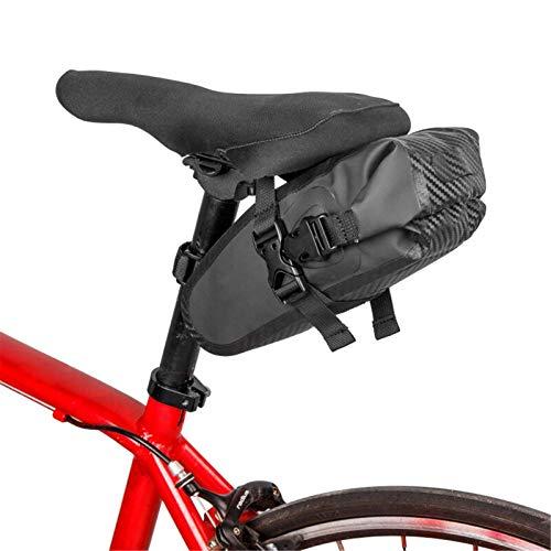 Bolsa de sillín de bicicleta de PVC impermeable bolsa de cola de bicicleta ligera para hombres Mountain Road Bike Ciclismo paquetes de asiento
