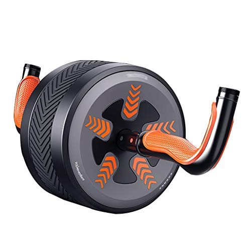 Summerone Ab Roller Rad-Rolle Kettle Rebounding Abdominal Rad Startseite Bauch-Übung Ausrüstung (Color : Yellow)