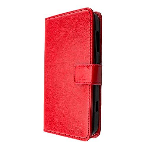 caseroxx Handy Hülle Tasche kompatibel mit Doro Liberto 824/825 Bookstyle-Hülle Wallet Hülle in rot