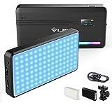 Lumière Vidéo RGB, Batterie intégrée Rechargeable VIJIM VL 196 Lampe de caméra LED, intensité Variable 2500K-9000K Polychrome 20 Modes d'effet d'éclairage Lampe vidéo LED