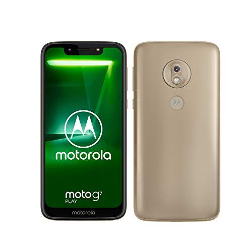 motorola moto g7 Play 5.7-Inch Android 9.0 Pie UK Sim-Free Smartphone with 2GB RAM and 32GB Storage (Single Sim) – Gold