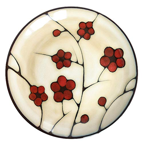 OGTFRWS 1pc estilo japonés vajilla útil placa de cerámica creativa japonés placa placa placa de comida for el hogar