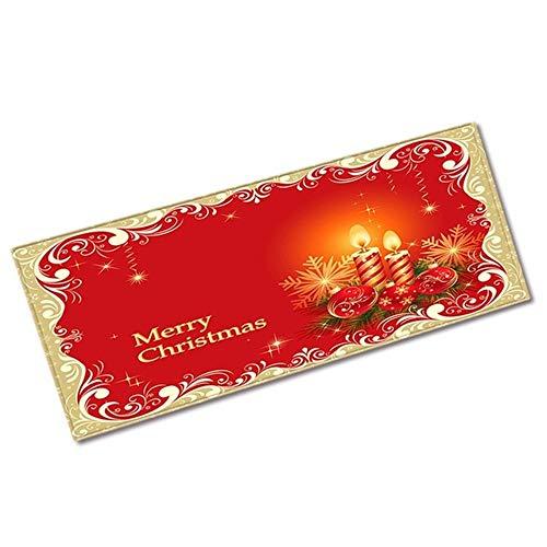 LXMK Decoración navideña Alfombra de Franela Decoración de Navidad para el hogar Alfombra de baño Felpudo Feliz...