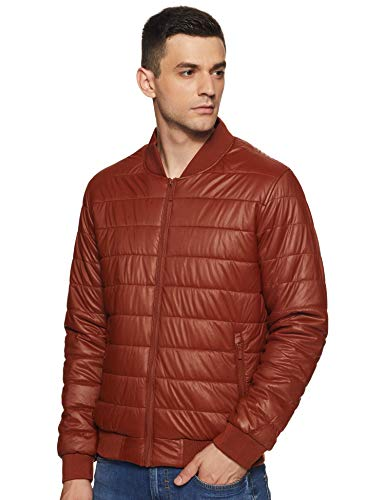 United Colors of Benetton Men's Quilted Jacket (19A2FSIC3020I_901_L_Brown_L)