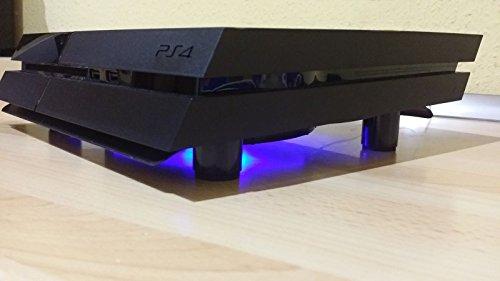 SM-PC® PS4 / PS4 Slim / PS4 Pro Kühler USB Design Cooler Lüfter 18cm Ständer passend für Playstation 4 Zubehör SCHWARZ - LED Beleuchtung #783