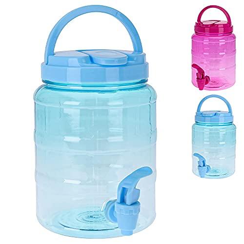 Murago - Getränkespender mit Zapfhahn ca. 2 Liter Blau Wasserspender Saftspender Kunststoff hervorragend für Kinder Plastik