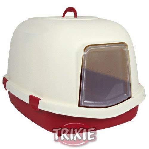 Trixie 40286 Katzentoilette Primo XL Top, mit Haube, 56 × 47 × 71 cm, bordeaux/creme
