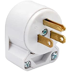 Legrand-Pass & Seymour 4867ANWCC10 15-Amp, Commercial Grade, Heavy Duty Angle Plug, White
