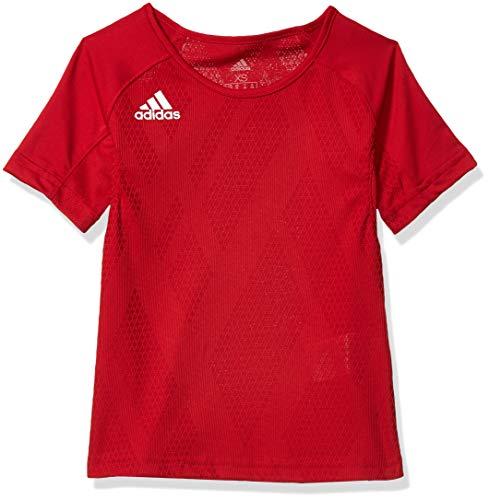 adidas Mädchen Quickset Jersey, Mädchen, Trikot, Quickset Jersey, Power Red/Power Rot/Weiß, Large