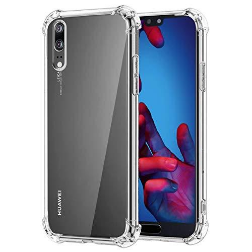 Verco Coque pour Huawei P20, Coque Silicone Housse Etui de Protection Légère TPU Souple [Shock-Absorption] pour P20 Coque, Transparent