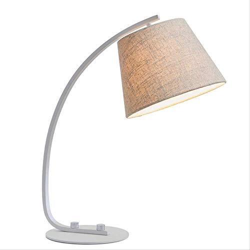 Lámpara de mesa creativa para dormitorio, moderna, sencilla, cálida, para salón, estudio,...