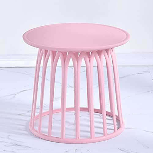 NXYJD Divano Tabella Laterale Semplice Camera Corner Table Mini Tavolino Salotto Moderno Tavolino Balcone (Color : Pink)