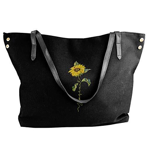 Preferred Store Sunflower Twenty One Pilots Women's Classic Shoulder Portable Big Tote Handbag Work Canvas Bag
