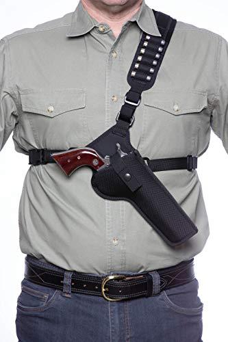 DIAMOND D OUTDOORS Denali Chest Holster - Revolver 5 1/2', Black (DCHR55)