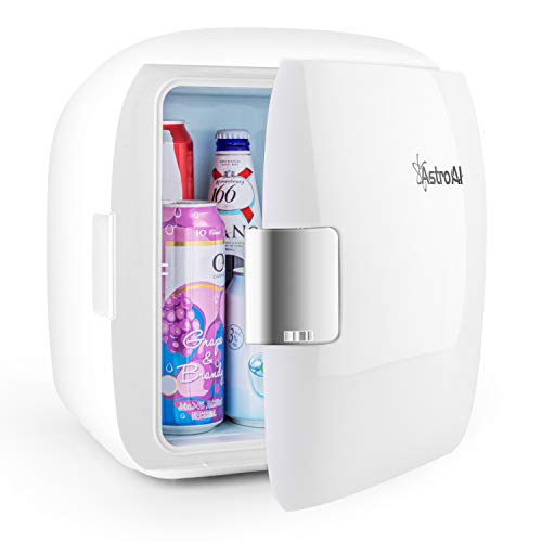 AstroAI Mini Fridge 12 Can Portable Electric Cooler and Warmer AC/DC for Bedroom, Food, Skincare, Breast Milk, Medications, Home Office and Travel