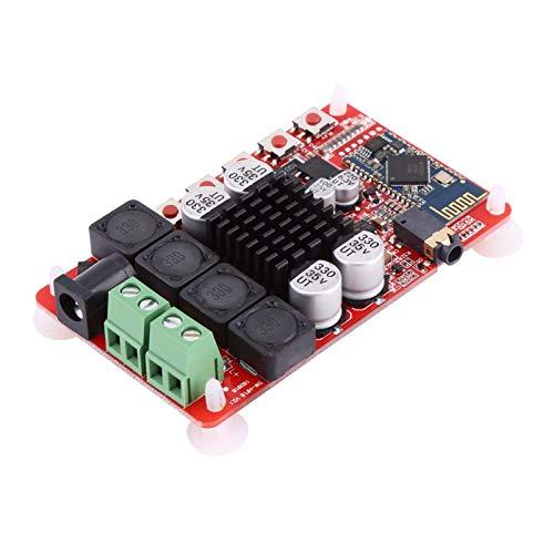 TDA7492 Módulo amplificador estéreo digital inalámbrico 50w x2 Receptor de audio Amplificador de potencia Placa AMP de doble canal con CSR8635 Bluetooth V4.0 Reveiver Micrófono