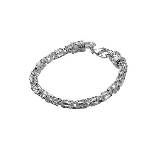 Nykkola Armband, Königskettendesign, Unisex, versilbert mit 925erSterling-Silber